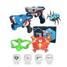 Pistolas de juguete con láser infrarrojo para niños y adultos, juego de Batalla Láser de bláster para actividades en interiores y exteriores, juguetes deportivos familiares, regalo