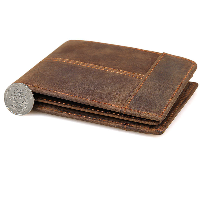 Men Genuine Leather Card Wallet Leather Credit Card Purse