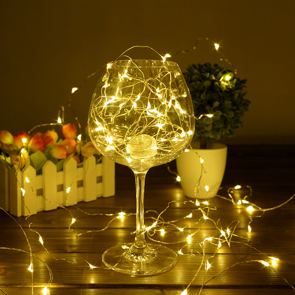 Copper Wire LED String Lights Holiday Lighting Fairy Garland For Christmas Tree Wedding Party Decoration 1M 2M 3M 5M 10M