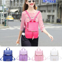 Women Leather Handbag Soft Face Fashion Retro College Backpack рюкзак рюкзак женский bag mochila сумка mochila mujer shcool bag(China)