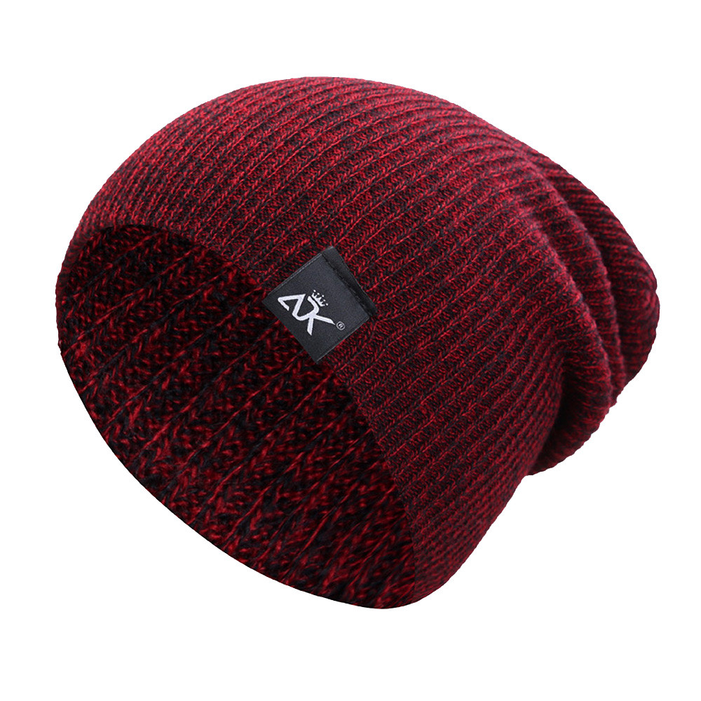 Fashion Winter Women's Hat Men Hat A Cap Beanie Knitted Hat Hip-hop Acrylic Fibres Knitting Keep Warm Winter Fur Ball H5
