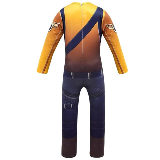 Game Kids Child Battle Royale Raptor Legend Skin Cosplay Costumes Royal Pilot Jumpsuits Zentai Mask Party Halloween Suit 6