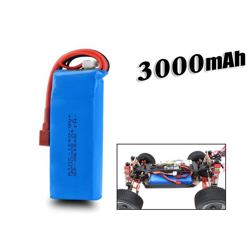 LeadingStar <font><b>7.4V</b></font> <font><b>3000mAh</b></font> 25C <font><b>Lipo</b></font> <font><b>Battery</b></font> T Plug for WLtoys 1/14 144001 RC Car Upgrade Parts image