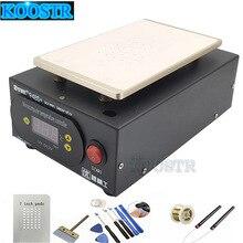 Uyue 948s + separador lcd, máquina de reparo de tela, bomba embutida, kit de vácuo para iphone para samsung + presente
