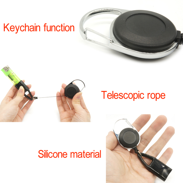 1Pcs Silicone Lighter Protective Cover Lighter Holder Sleeve Clip With Retractable Keychain Regular Size Smoking Accessories 6