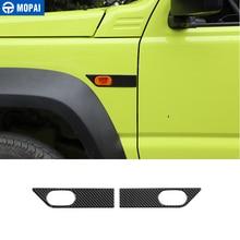MOPAI Carbon Fiber Stickers for Jimny JB74 Car Fender Turn Signal Light Decoration Cover Accessories for Suzuki Jimny 2019+