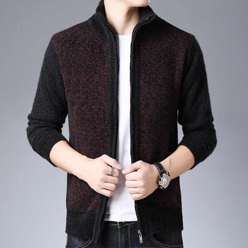 2020 gruby aksamit nowe mody kurtki przeciwdeszczowe mężczyźni kurtka polarowa Trend płaszcz jesień zima płaszcz na co dzień mężczyzna odzież