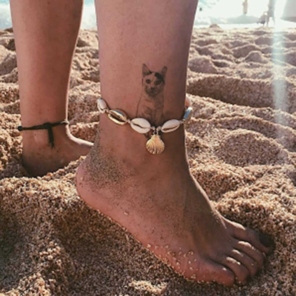 Сплав раковины ножной браслет в пляжном стиле регулируемая подвеска ножной браслет на лодыжку для женщин девушек оптом