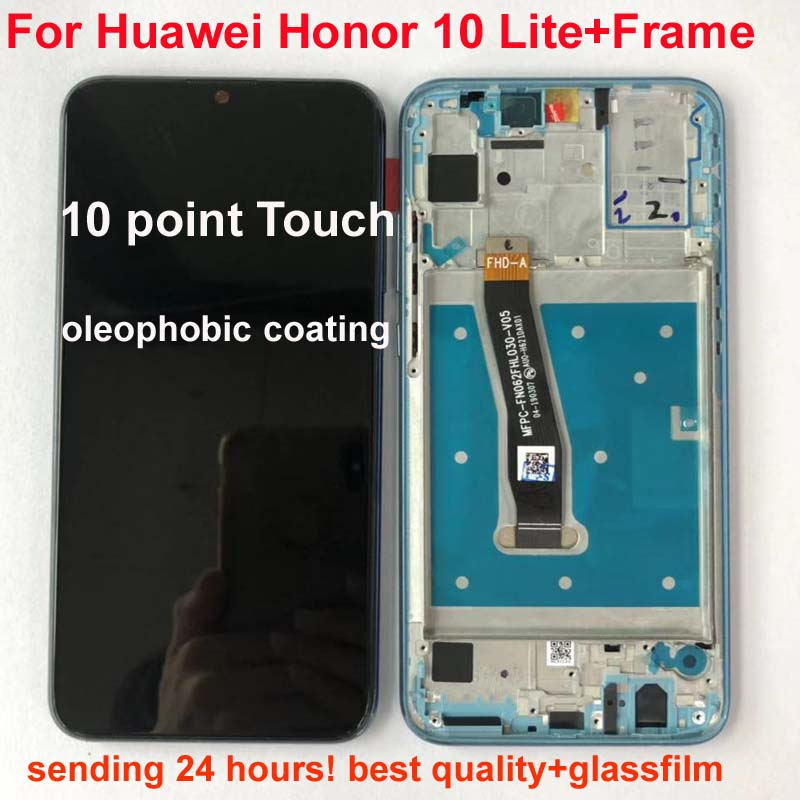100 Original Display For Huawei Honor 10 Lite LCD Touch Screen Digitizer with Frame Global Version Innrech Market.com