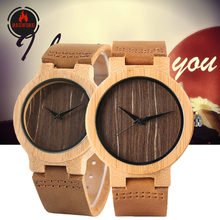 REDFIRE Wood Watch Men Women Quartz Wristwatch Couple Wooden Timepiece Brown Gen