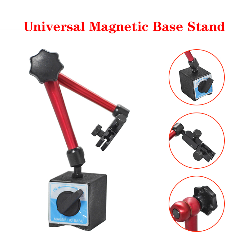 Total Height 350mm Big Universal ON OFF Stand Base Flexible Magnetic Base Holder Stand Tool  amp  Dial Indicator Test Tool