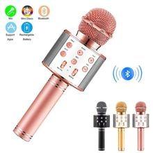 Lecteur portatif tenu dans la main de haut-parleur portatif de Bluetooth de Microphone de karaoké sans fil avec la fonction d'enregistrement de lumières de LED de danse pour des enfants