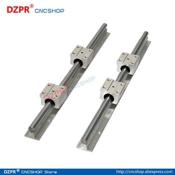 Linear Rail CNC Parts SBR12 12mm,2Pcs 550mm 21.654inch + 4Pcs SBR12UU Block Fully Supported Linear Rails and Bearing