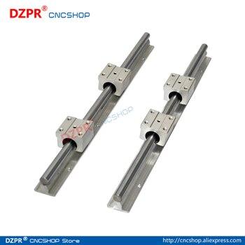 Linear Rail CNC Parts SBR13 13mm,2Pcs 550mm 21.654inch + 4Pcs SBR13UU Block Fully Supported Linear Rails and Bearing
