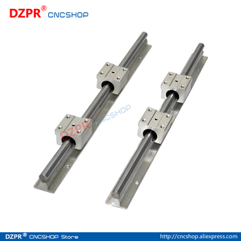 Linear Rail CNC Parts SBR16 16mm,2Pcs 300mm 11.811inch + 4Pcs SBR16UU Block Fully Supported Linear Rails and Bearing