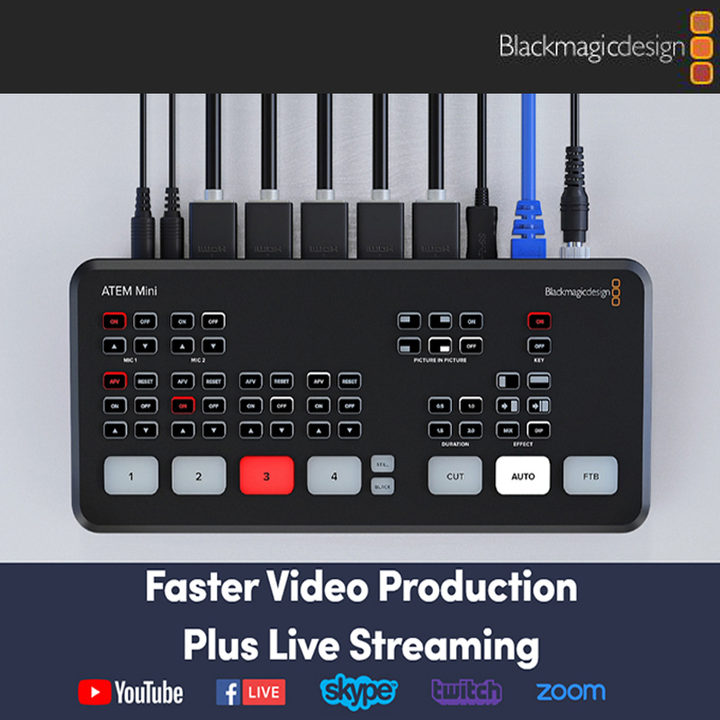 Original Blackmagic Design Atem Mini Pro Atem Mini Hdmi Live Stream Switcher Multi View And Recording New Features Photo Studio Accessories Aliexpress