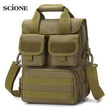 Erkekler askeri taktik çanta Molle Messenger omuz çantaları su geçirmez erkek kamuflaj tek kemer çuval çanta açık XA746WA