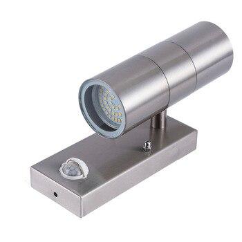 AC220V AC240V Pir датчик движения светодиодный настенный светильник светодиодный наружный светодиодный Ландшафтный настенный светильник