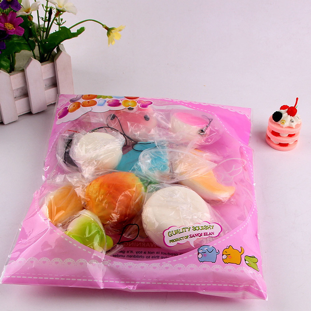 Toys Package Anti-Stress-Toys Fidget Drop-Squishy Mini Kawaii Rising Bread Medium 10pcs