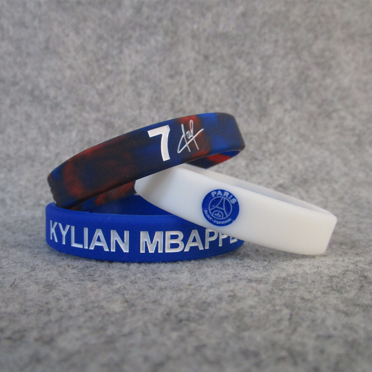 Football Star Paris Team No. 7 Kylian Mbappe Silica Gel Signature Night Light Bracelet Sports Wrist Strap Fans Accessories