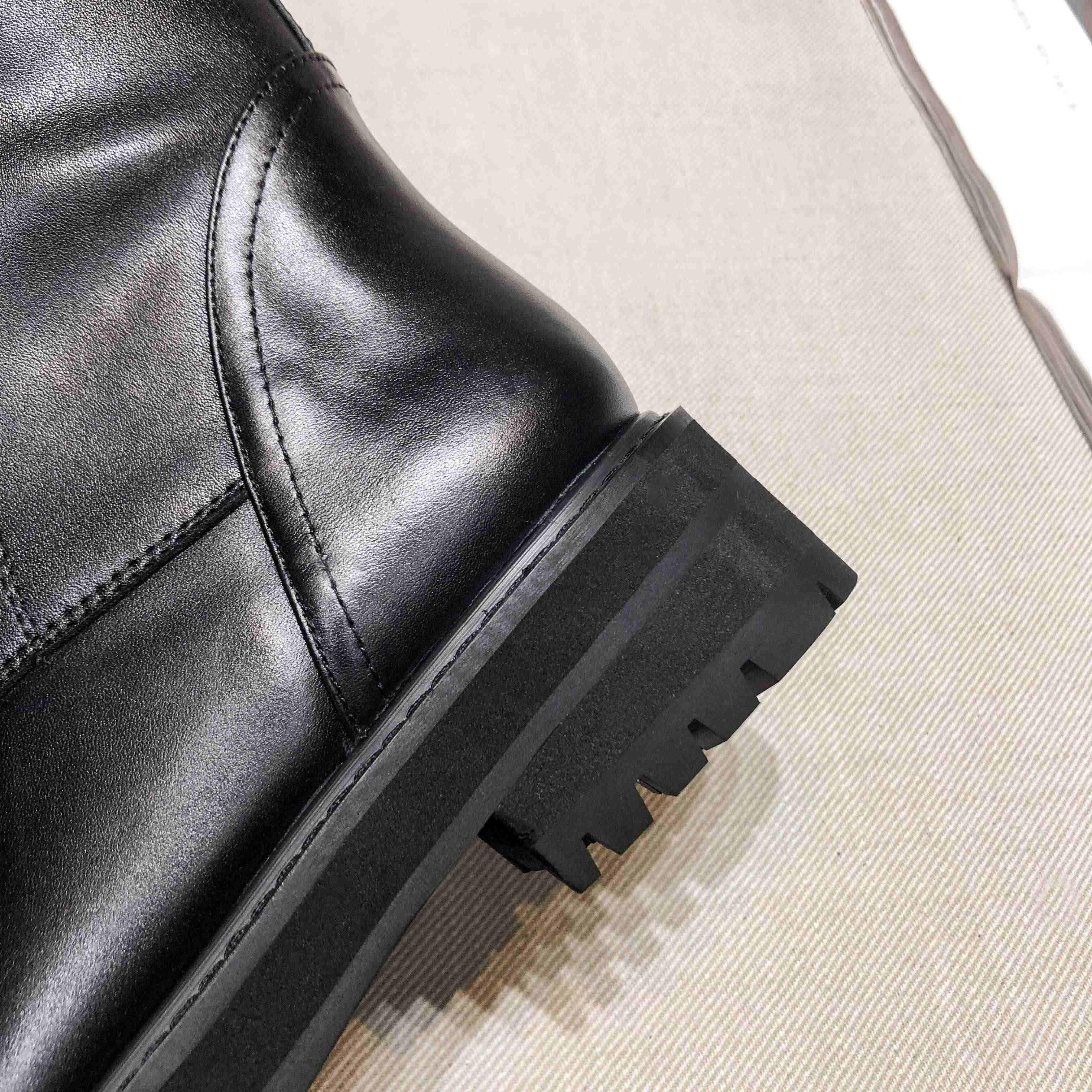 Krazing หม้อของแท้หนัง lace up med รองเท้าส้นสูงรอบ toe punk superstar ขี่ม้ารองเท้าหัวเข็มขัดรัด over-the- รองเท้าเข่า l35