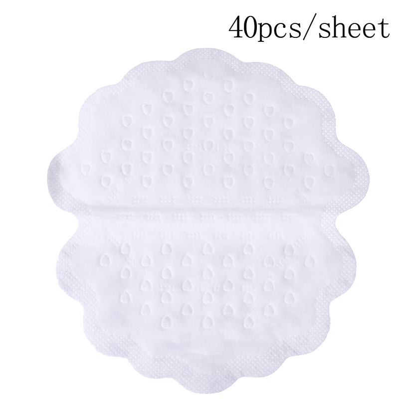 NEW 40Pc/box Disposable Anti Sweat Stickers Armpits Sweat Pads For Underarm Gasket From Sweat Absorbing Pads For Armpits Linings