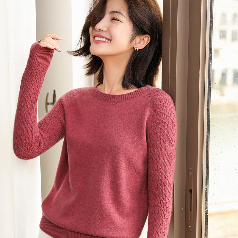 Top Grade Soft Sweaters Women 100% Cashmere Knit Jumpers Ladies 2019 Winter New O-Neck Pullovers Standard Clothes