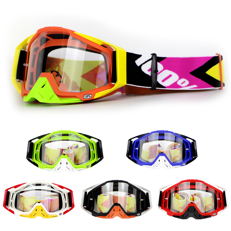 Hundred Percent Off-road Goggles Motorcycle Race Car Goggles Outdoor Riding Eye Protection Windproof Sand Ski Goggles