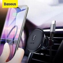 Baseus magnetyczny uchwyt samochodowy na telefon komórkowy magnes Air Vent uchwyt stojak na iPhone Xiaomi uchwyt samochodowy na telefon klips kablowy