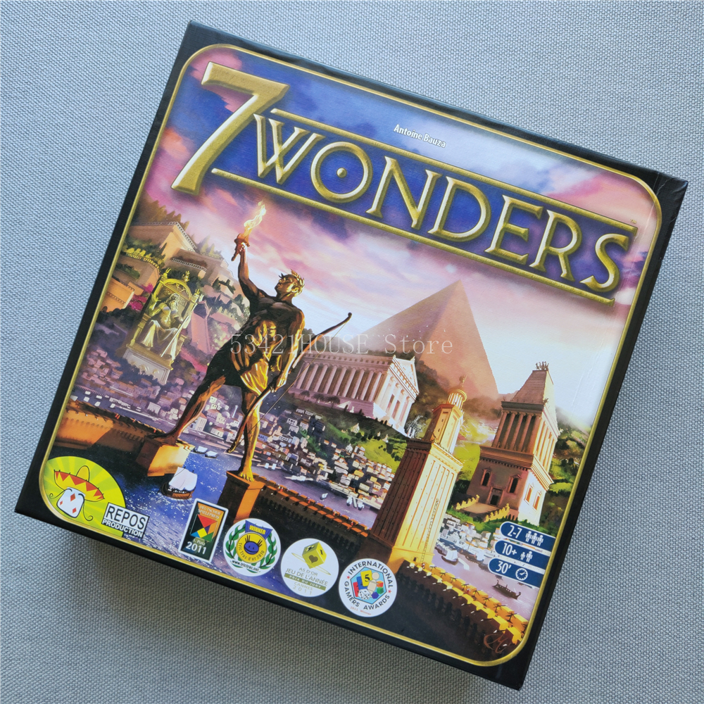 NEW 10Age+ 3-7Players 7 Wonders Board Game Strategy 7Wonders Table War Games