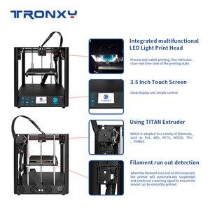 Image 4 - 2020 neueste Schnelle Montage 3D Drucker TRONXY D01 mit Industrie Linear Guide und Titan Extruder Optional Gehäuse acryl bord