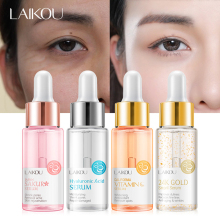 LAIKOU Facial Serum Sakura Vitamin C 24K Gold Hyaluronic Acid Moisturizing Whitening Face Essence Shrink Pores Improve Dullness