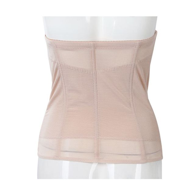 Waist Tummy Belly Slim Body Shaper Shapewear Belt Corset Cincher Trimmer Girdle M beige 4