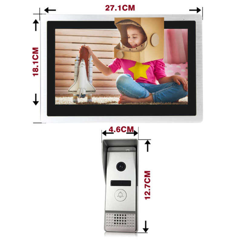 Dragonsview וידאו אינטרקום 10 אינץ 960P IP Wifi מסך מגע וידאו דלת טלפון פעמון עם תנועת חיישן עבור בית משרד וילה