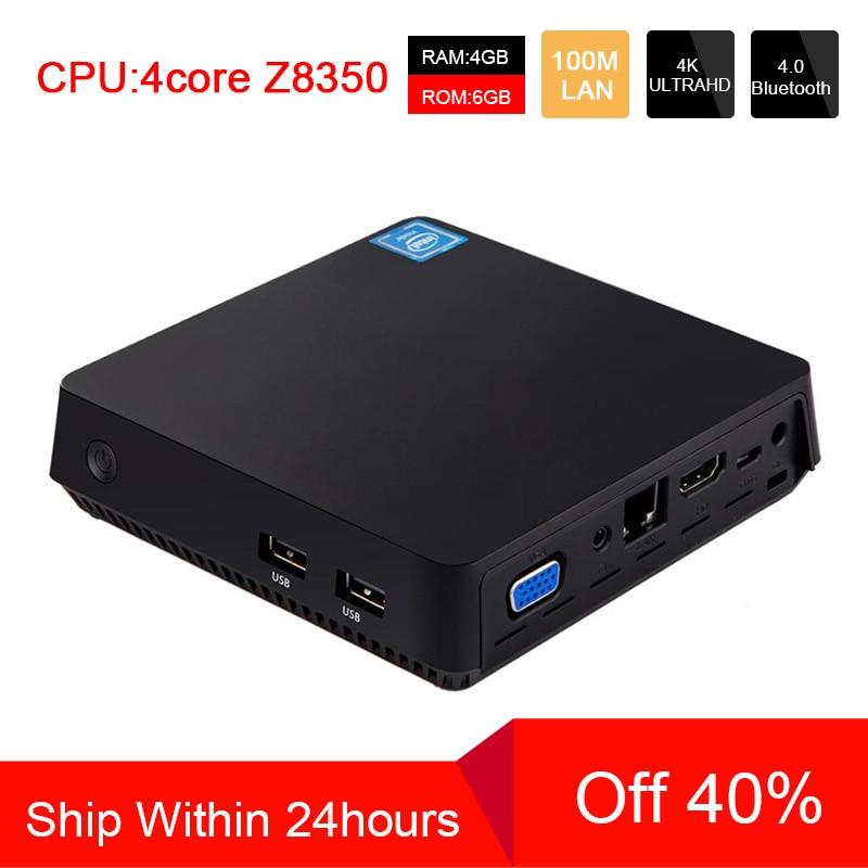 ACEPC T11 MINI PC Win10 Intel Atom Z8350 1.92GHz 4GB RAM Linux HDMI VGA USB3.0 2.5 Inch HDD DDR3 Fanless Mini Computer Pocket PC