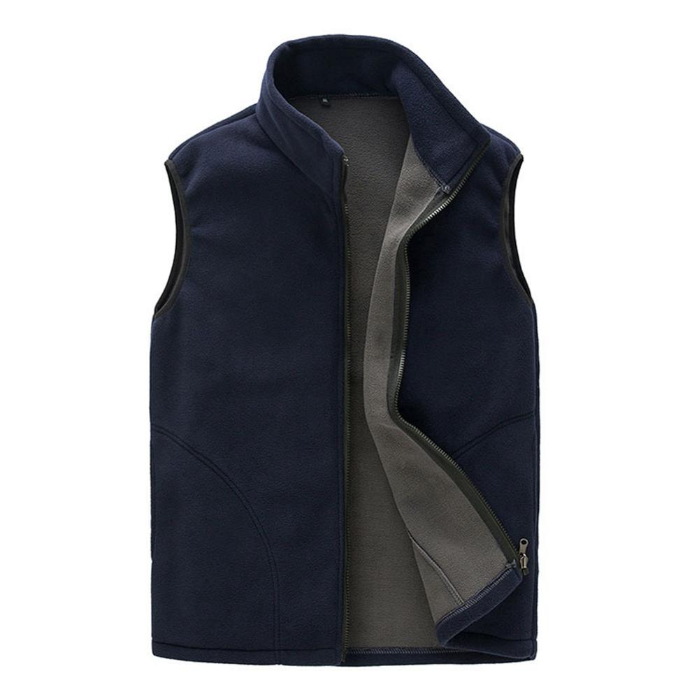Мужчины зима флис жилет мужской толстый теплый жилет верхняя одежда повседневный термобелье мягкий жилет мужские ветрозащитный без рукавов куртка