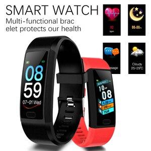 Image 2 - LIGE Yeni 1.14 Büyük Ekran akıllı saat nabız monitörü Spor Izci Spor Bilezik Su Geçirmez Hava Ekran Smartwatch