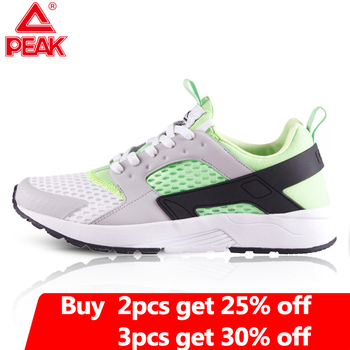 PEAK Men's Running Shoes Winter Outdoor Sneakers Lightweight Breathable Mesh Casual Shoes Gym Fitness Jogging Sport Shoes цена 2017
