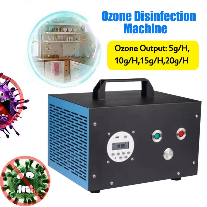 5/10/15/20GRH Ozone Generator Sterilizer With 16set Timer & Strong Fan Effective Long Life For Indoor Air Disinfection 110V/220V