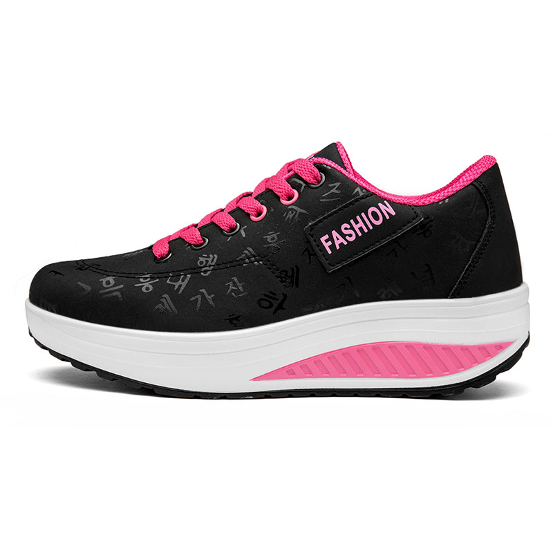 2020 Spring New Women Platform Rocking Shoes Casual Fashionable Womens Chunky Designer Sneakers Zapatillas Con Plataforma Mujer 5