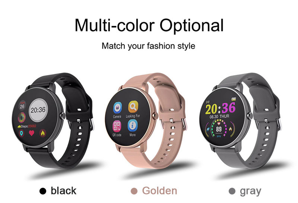 H6deebeb5c46048f4a354aa3fb8f9e4ebG 2020 Full Touch Smart Watch Men Blood Pressure Heart Rate Monitor Round Smartwatch Women Waterproof Sport Clock For Android IOS
