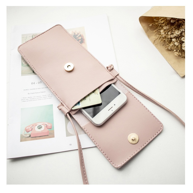 Women's Mobile Phone Bag Mini Crossbody Bags Fashion Women Clutch Hollow Out Phone Bag Wallets Flap Touch Screen Phone Shoulder