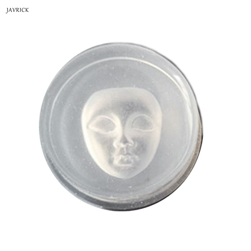 Human Face Pendant Silicone Resin Mold Soap <font><b>Wax</b></font> Candle Mold <font><b>Jewelry</b></font> Making <font><b>Tools</b></font> image