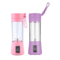 2 Pcs 380Ml USB Rechargeable Juicer Bottle CUp Juice Citrus Blender Lemon Vegetables Fruit Milkshake Smoothie Squeezers Reamers|Juicers| |  -