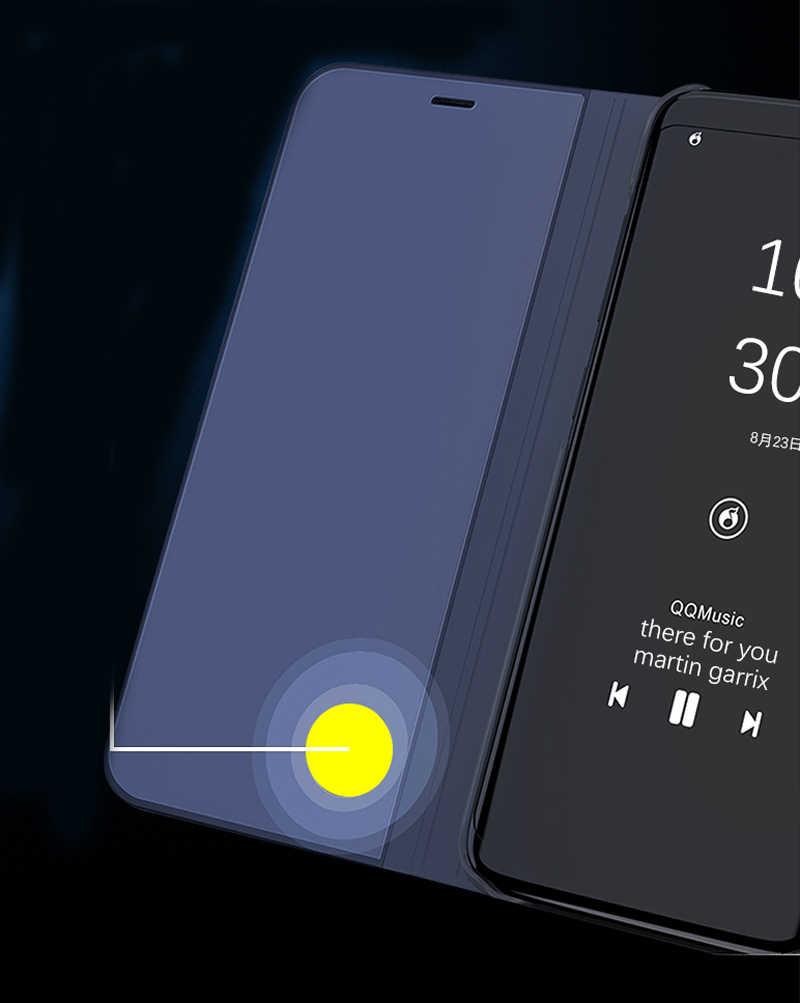 สมาร์ทMirror Flip CaseสำหรับSamsung Galaxy A51 A71 A50 A70 A40 A30 A20 A20E A10E A60 A80 A90 A01 a21 A11 A31 A41 A81 A91 ฝาครอบ