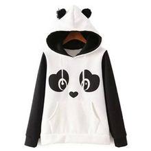 Женская толстовка с капюшоном 2020 пандами и ушками пуловер