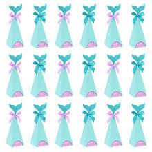 Sirène boîte à bonbons papier pour bricolage boîte sacs sirène décorations d'anniversaire petite sirène boîte-cadeau pour enfants fête d'anniversaire faveur fournitures