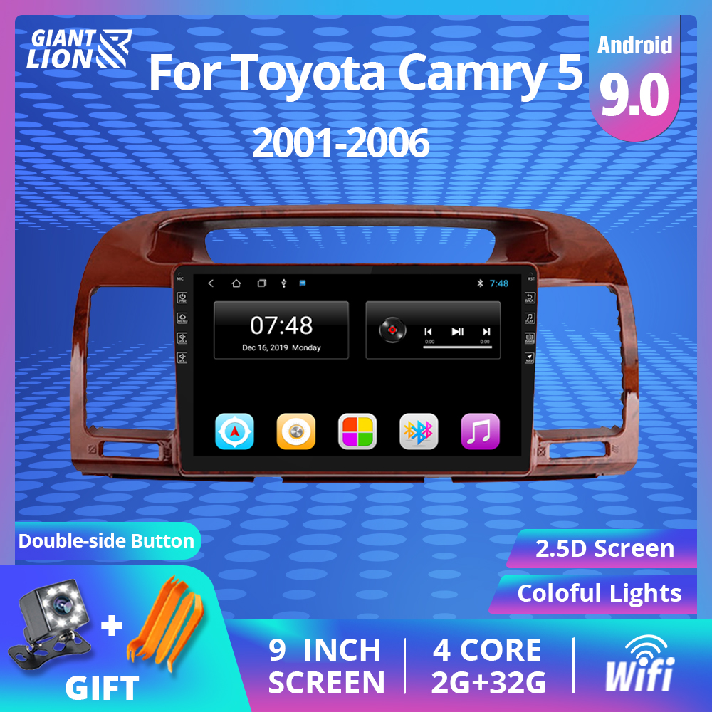 2Din Android 9,0 автомобильное радио для Toyota Camry 5 XV 30 2001-2006 Автомобильный мультимедийный видео плеер навигация GPS Авторадио No 2 Din DVD