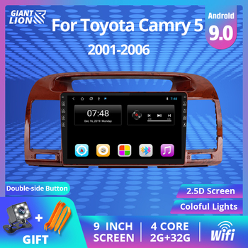 2Din Android 9.0 Car Radio For Toyota Camry 5 XV 30 2001-2006 Car Multimedia Video Player Navigation GPS Autoradio No 2 Din DVD 2din android 9 0 car radio for toyota camry 5 xv 30 2001 2006 car multimedia video player navigation gps autoradio no 2 din dvd