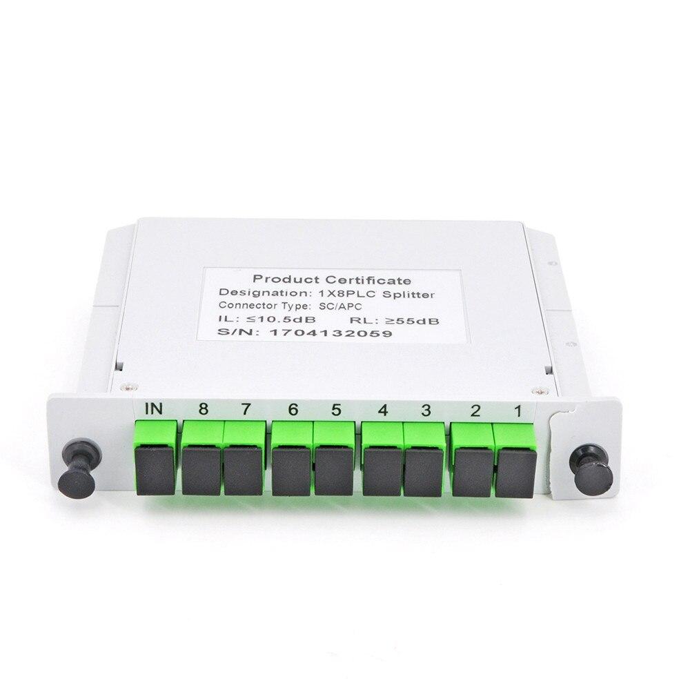 SC APC PLC 1X8 Splitter Fiber Optical Box FTTH PLC Splitter Box With 1X8 Planar Waveguide Type Optical Splitter